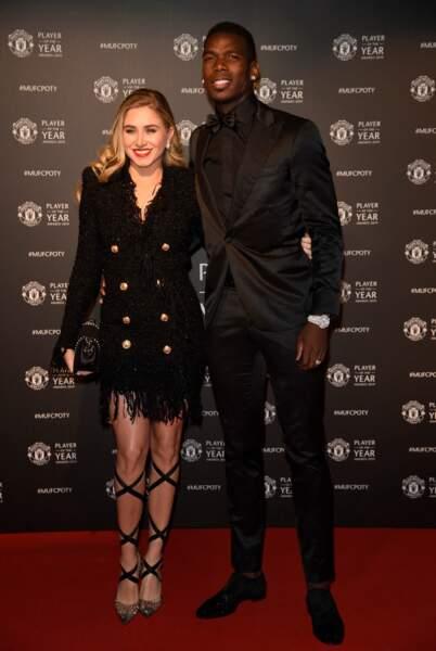 Paul Pogba et sa femme Maria en mai 2019 à Manchester.