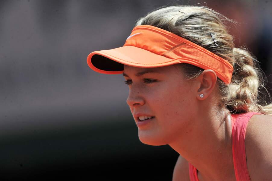 Eugenie Bouchard à Roland Garros en 2014
