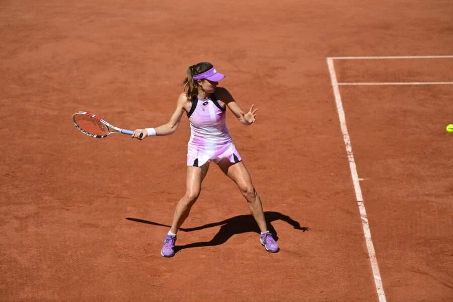 Alizé Cornet en tenue tie and dye à Roland Garros en 2021