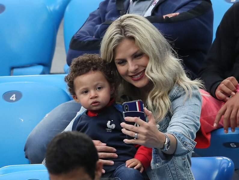 Camille Tytgat et son fils en juillet 2018.