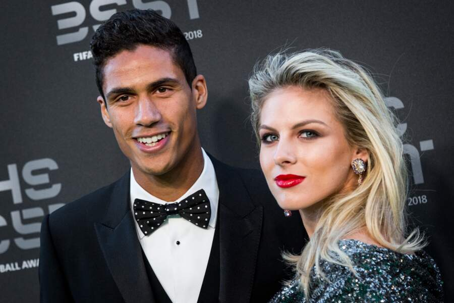 Raphaël Varane et sa femme Camille Tytgat en septembre 2018.