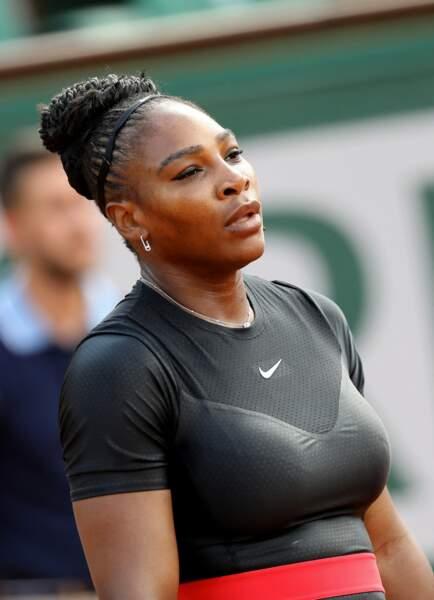 Serena Williams à Roland Garros en 2018 : sa combinaison n'est pas jugée protocolaire, elle ne pourra plus la porter.