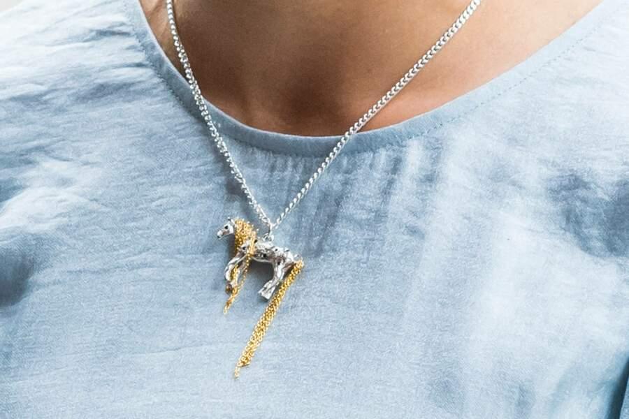 Victoria de Suède porte un collier à l'effigie du cheval, héros de Fifi Brindacier