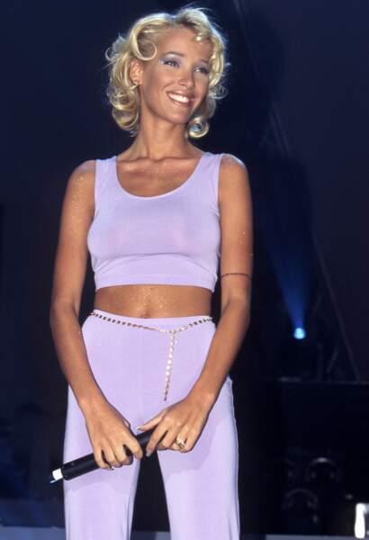 """Ophélie Winter et une coupe de cheveux très """"Marilyn """" en 1996"""