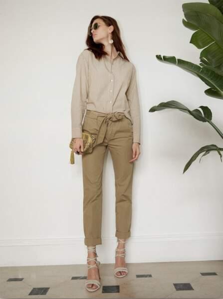 Pantalon en coton, 145€, Berenice