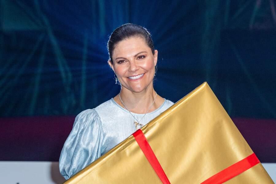 La princesse Victoria de suède lors de la cérémonie de remise du prix littéraire Astrid Lindgren, l'auteur de Fifi Brindacier
