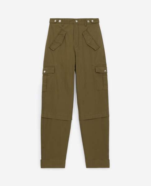 Pantalon militaire en coton mélangé, 185€, The Kooples