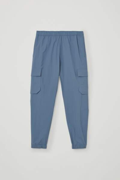 Pantalon cargo en coton mélangé et polyamide recyclé, 79€, COS