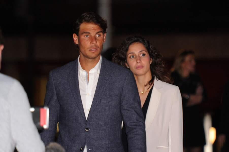 Rafael Nadal et Xisca à Monaco le  9 avril 2016