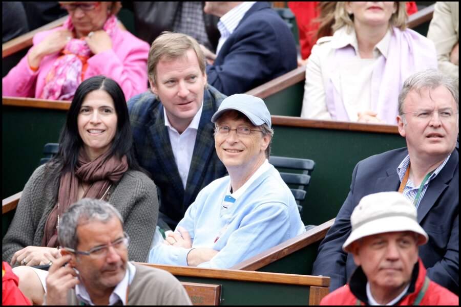 Bill Gates à Roland-Garros en 2009