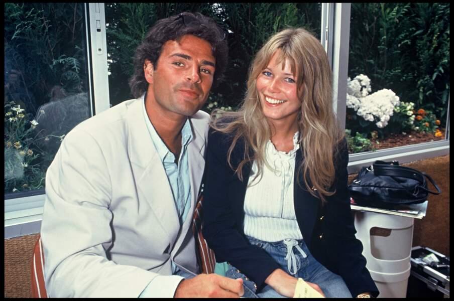 Claudia Schiffer et Alain Fitoussi à Roland-Garros en 1993