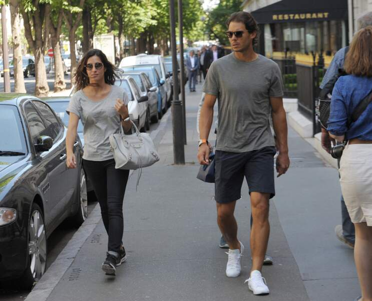 Rafael Nadal et Visca dans les rues de Paris, le 4 juin 2015
