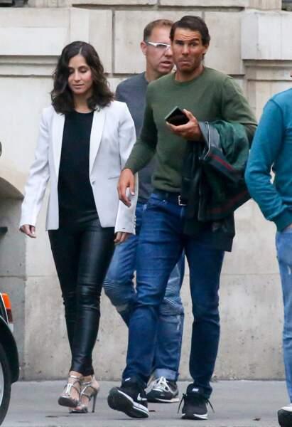 """Rafael Nadal et Maria Francesca """"Xisca"""" Perello à Paris le 5 juin2017"""