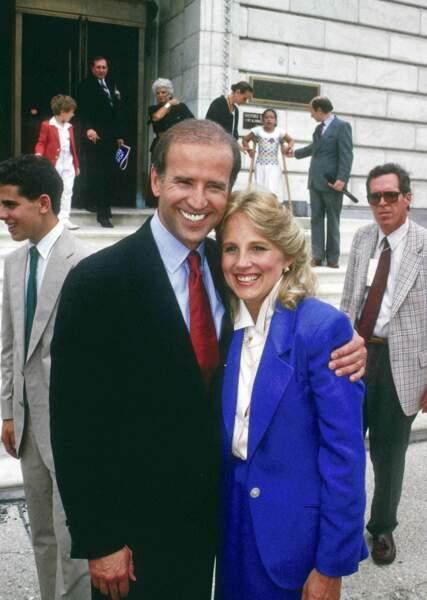 Jill Biden en 1987 : à 35 ans, tailleur et couleur sont ses maîtres mots