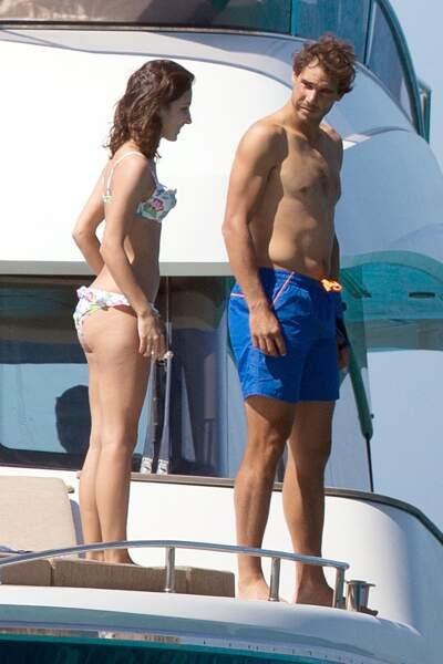 Rafael Nadal et Xisca Perello à Ibiza le 1er juin 2016