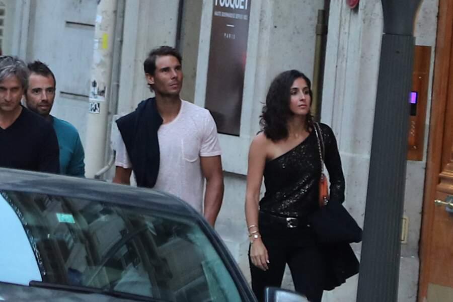 Rafael Nadal et Xisca Perello le 4 juin 2018 à Paris