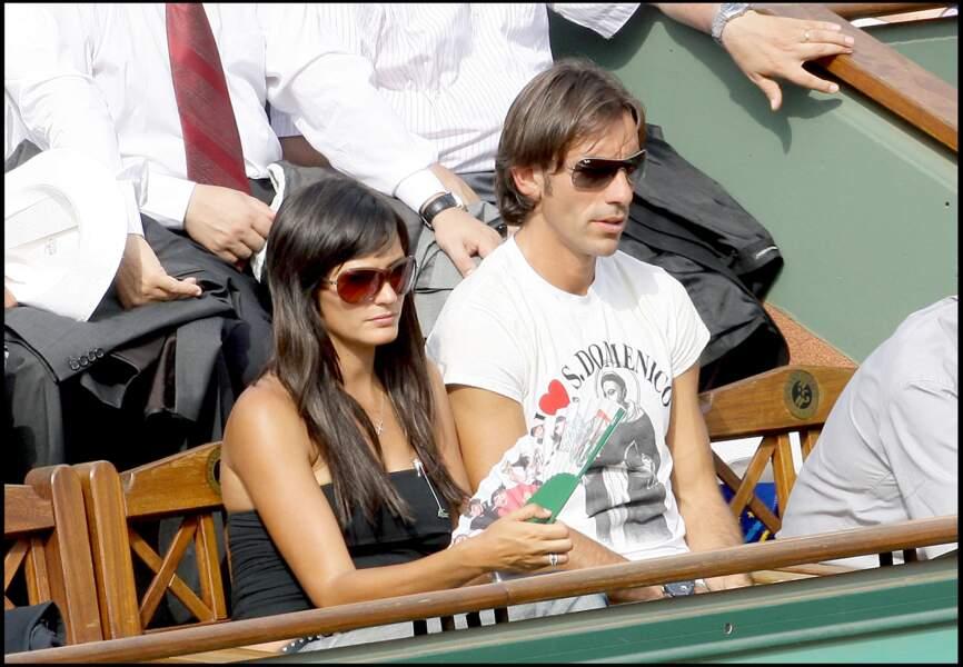 Robert Pires et Jessica Le Marie en 2009 à Roland-Garros
