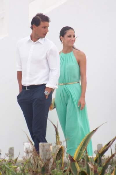 Rafael Nadal et Xisca Perello à Formentera, le 19 juillet 2014