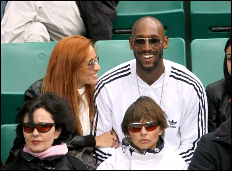 Nicolas Anelka et une amie en 2006 à Roland-Garros