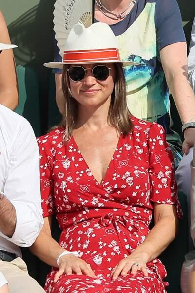 Pippa Middleton lors des Internationaux de Tennis de Roland-Garros à Paris,vle 27 mai 2018.
