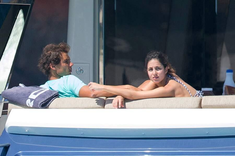 Rafael Nadal et Xisca Perello le 1er juin 2016 à Ibiza