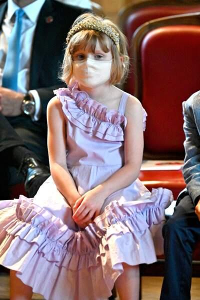 """La princesse Gabriella lors du lancement du programme """"Océano pour Tous"""" au Musée Océanographique de Monaco, le 1er juin 2021."""