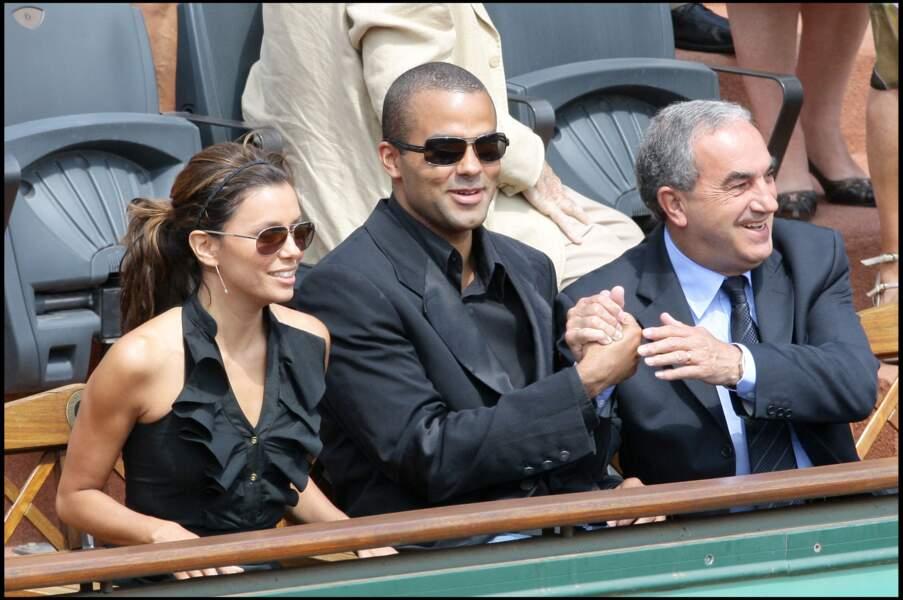 Tony Parker et Eva Longoria à Roland-Garros en 2009