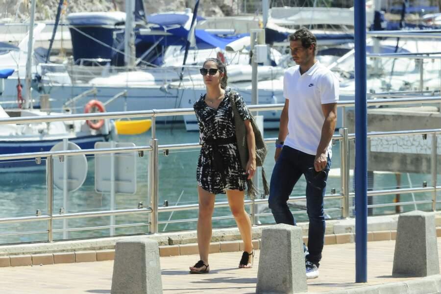 Rafael Nadal et son épouse à Majorque, le 14 juin 2017