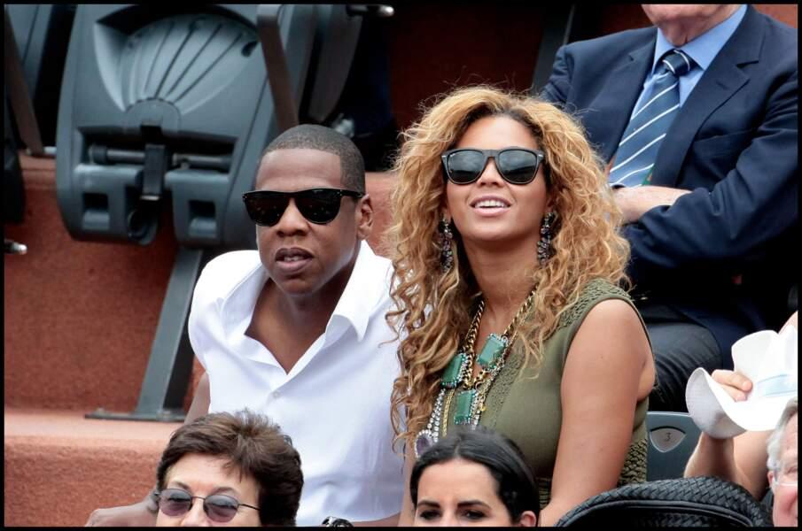 Jay-Z et Beyoncé en 2010 à Roland-Garros