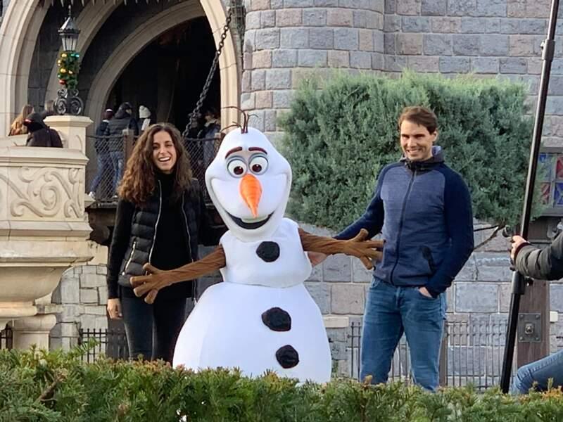 Rafael Nadal, sa femme Xisca Perello à Disneyland Paris le 29 Novembre 2019
