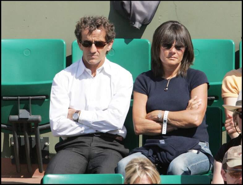 Alain Prost et son épouse à Roland-Garros en 2006