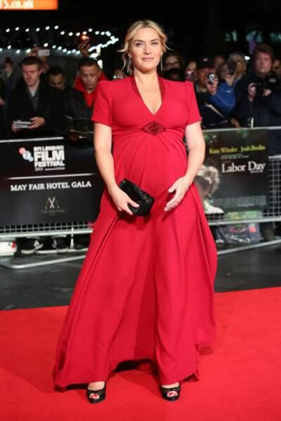 Kate Winslet en 2013 : rayonnante enceinte de son troisième enfant