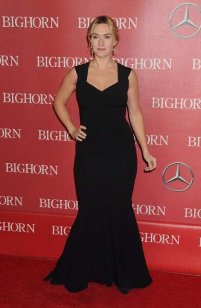 Kate Winslet en 2016 : en robe de soirée joliment décolletée