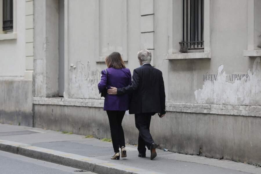 Denise Fabre était accompagnée de son mari Francis Vandenhende lors des obsèques de Jacqueline Caurat, en l'église Notre-Dame de l'Assomption de Passy, à Paris, France, le 2 juin 2021.