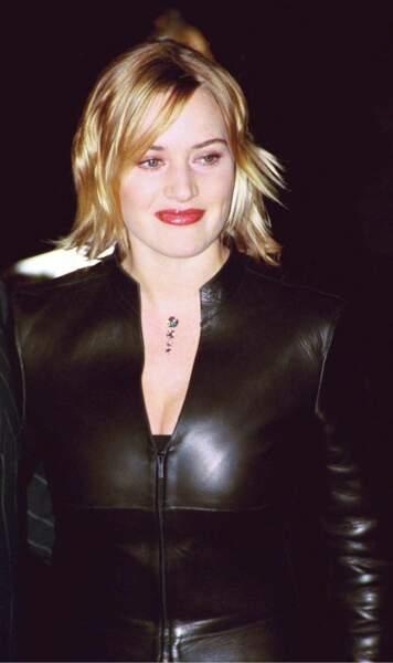 Kate Winslet en 1999, enceinte de sa fille Mia