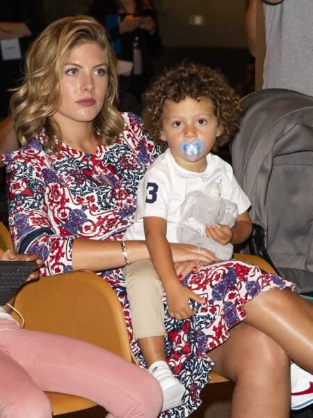 Camille Tytgat, la femme de Raphaël Varane et leur fils Ruben en 2019