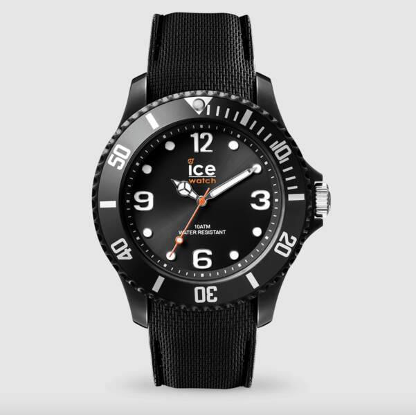 Montre mixte noire de grand taille Ice sixty nine, 69€, Ice Watch
