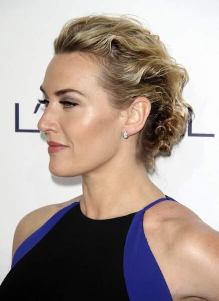 Kate Winslet en 2015 avec un joli chignon ondulé