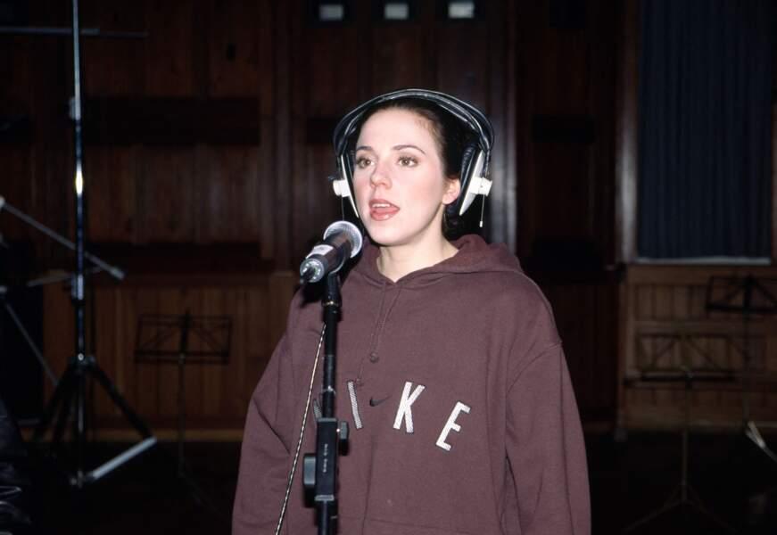 Melanie C, en 2000, lors d'un enregistrement.