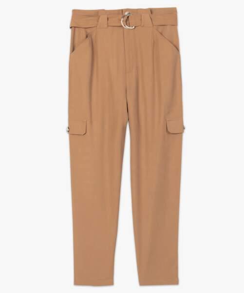 Pantalon taille haute et coupe ample, 29,99€, Gemo