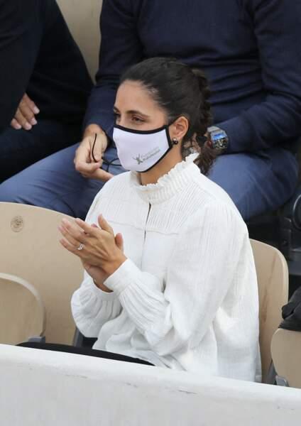 Le joueur de tennis espagnol est observé de près par sa femme, Xisca Perello.