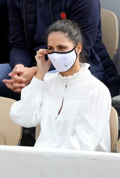 Maria Francisca Perelló, de son vrai nom, très concentrée lors du tournoi.