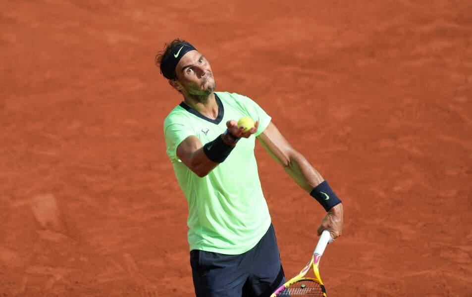 Rafael Nadal lors de son match contre Cameron Norrie.