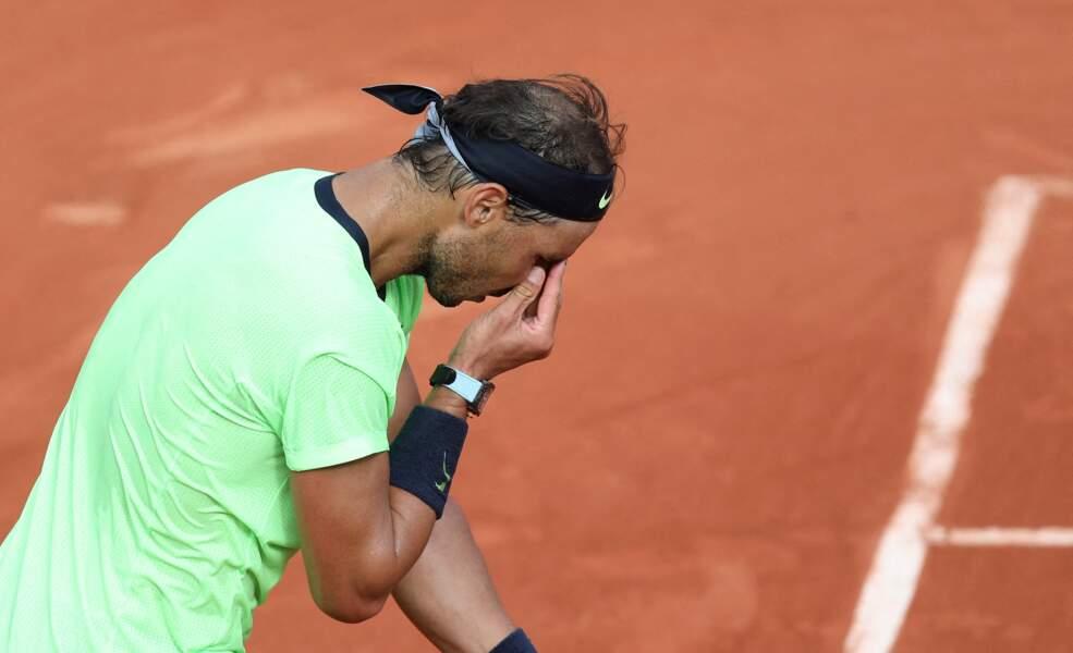 Le joueur professionnel très concentré pour son match du jour.