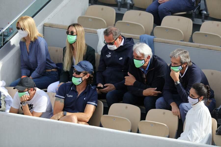 La femme du tennisman espagnol à Roland-Garros.