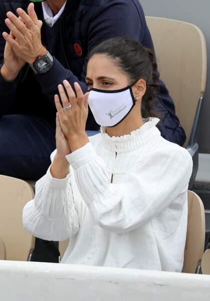 La première grande supportrice de Rafael Nadal à Roland-Garros, sa femme Xisca Perello.