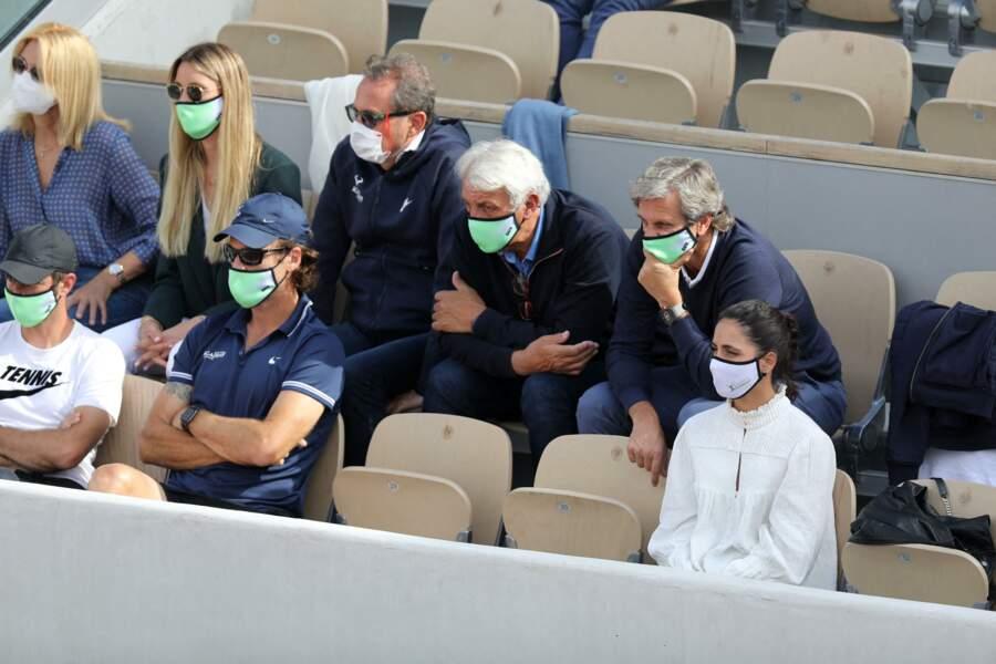 Rafael Nadal est observé pendant son tournoi.