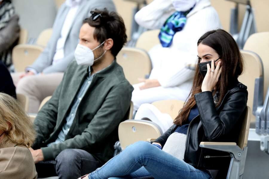 Le chanteur Vianney et sa compagne, Catherine Robert en couple depuis 2016 à Roland-Garros.