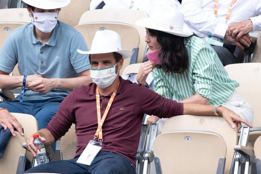 Le duo Nolwenn Leroy et Arnaud Clément très complice lors des tournois ce dimanche 6 juin.
