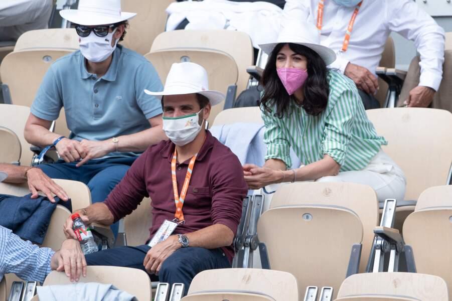 Rare apparition de la chanteuse et l'ancien joueur de tennis à Roland Garros ce 6 juin.